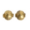 "Metal Beads 10x9.5mm Round 8"" Str. (approx.20pcs) Antique Brass"